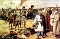 Расставьте в хронологической последовательности правление первых древнерусских князей